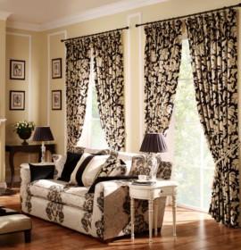 As cortinas na decoração do apartamento