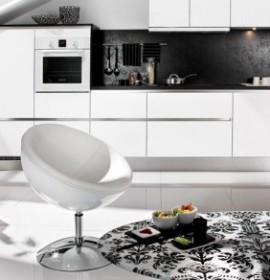 Decoração de cozinhas com branco e preto