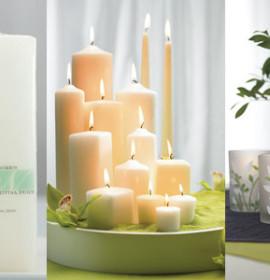 Sugestões de decoração com velas e elementos naturais