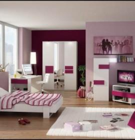 Decoração alegre e divertida para o quarto de uma adolescente