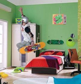 Decoração para o quarto de um rapaz adolescente