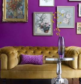 Escolher a cor para as paredes da sua sala