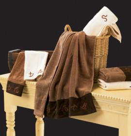 Decoração do banheiro: escolher as toalhas